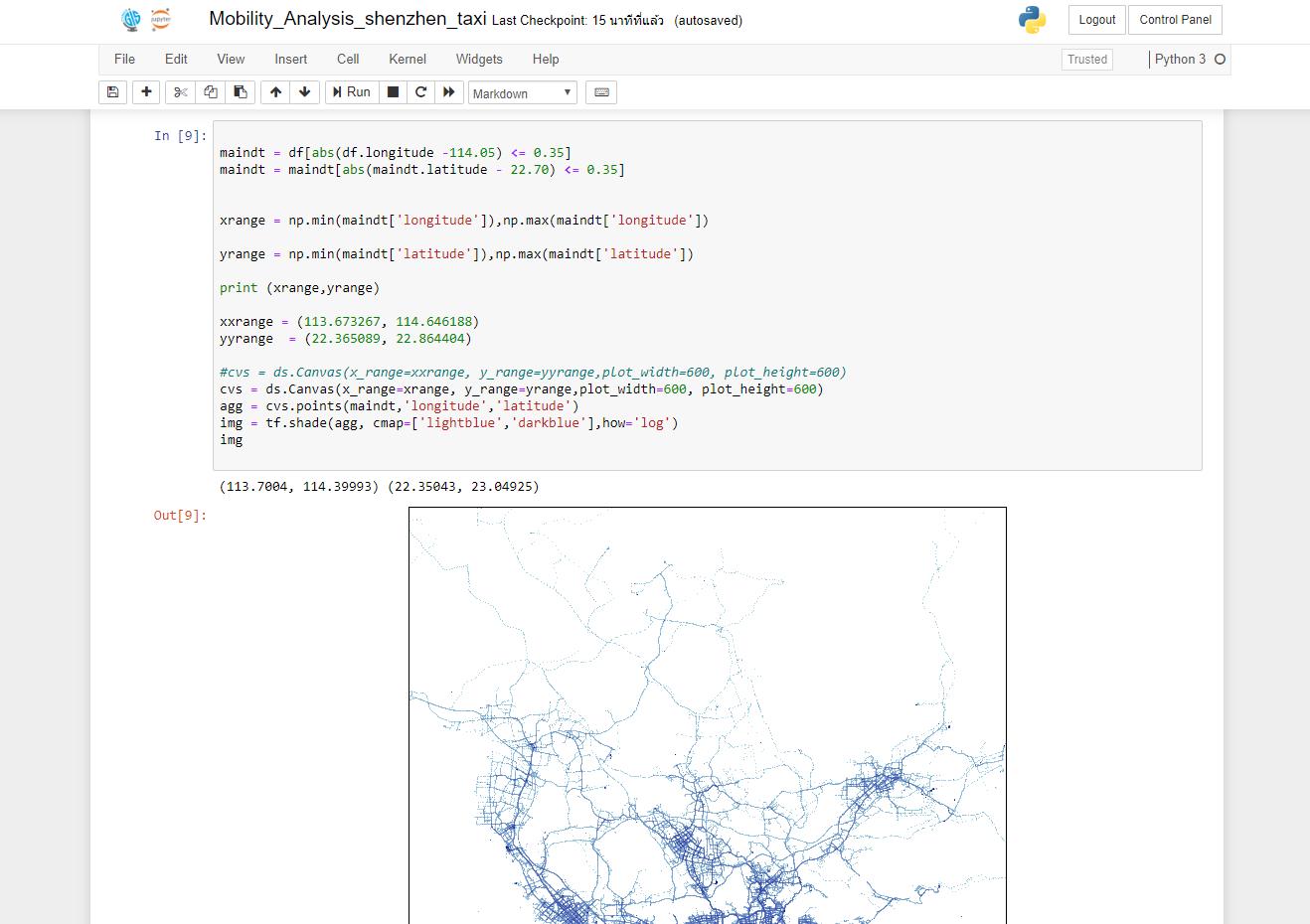 Geovisual Analytics for Shenzhen Taxi Trajectories