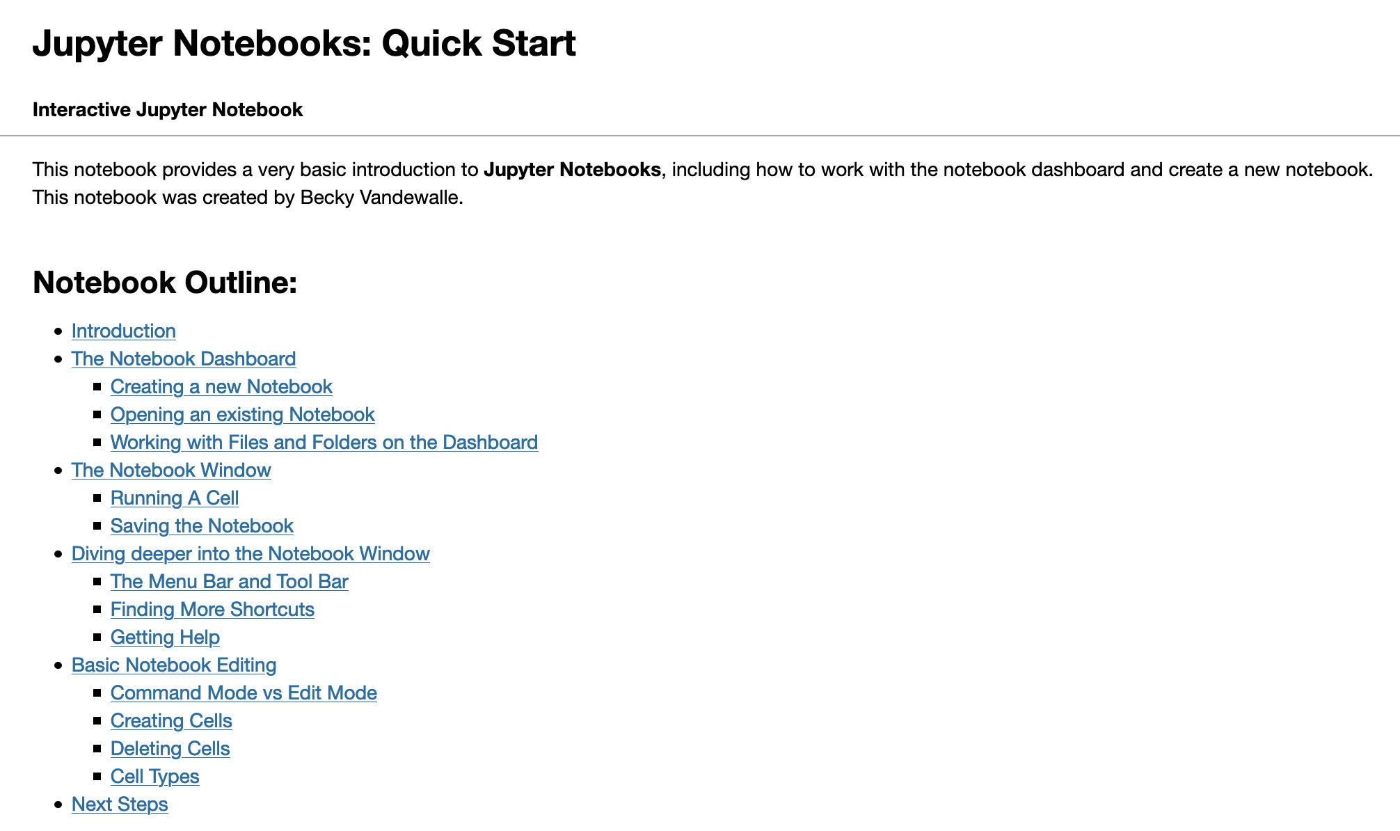 Jupyter Notebooks: Quick Start